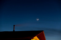 4 New Moon with earthshine