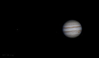Jupiter, Io, and Ganymede from Halifax, Nova Scotia 2014-02-12