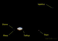Saturn & Moons with iPhone 4s 2012-05-07