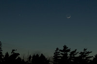 Mercury with Venus and the Moon