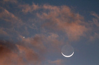 Moon with Venus and Mercury